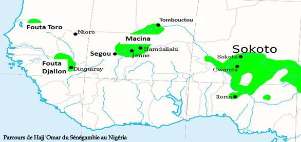 Dossiers spéciaux - Cheikh 'Omar Foutiyou Tall - Parcours de Cheikh Omar Foutiyou Tall de Sénégambie au Nigéria - Tidjaniya.com